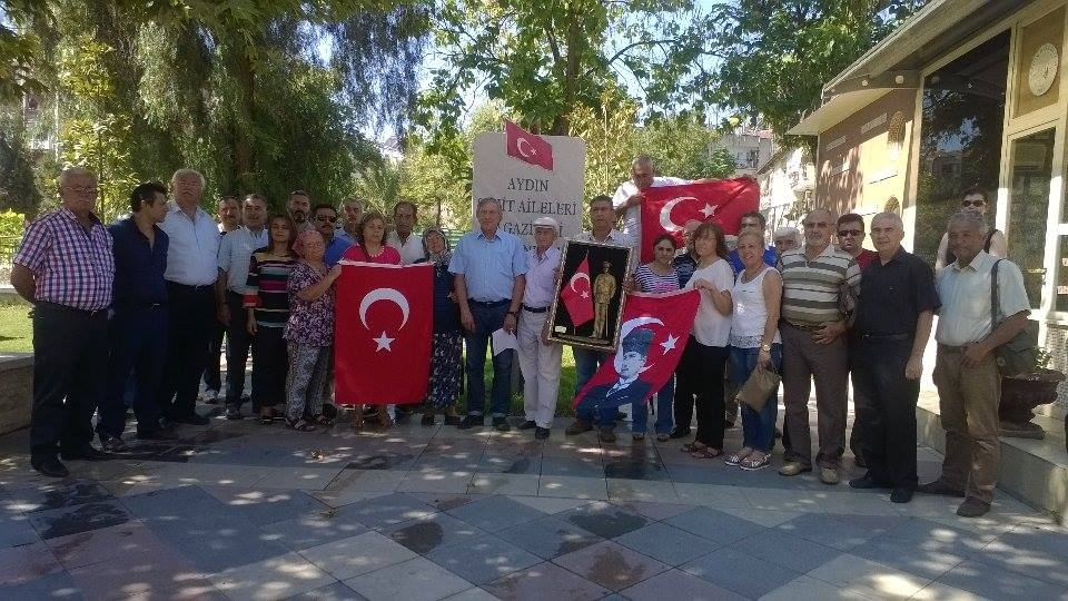 Aydın Şehit Aileleri ve Gazileri Derneği İle Birlikte Terör Saldırılarını Şiddetle Kınadık