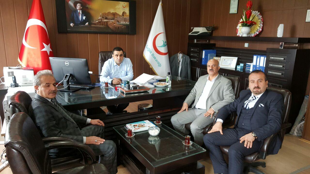 Şube Başkanı İhsan YILDIRIM Vve Şube Başkan Yardımcısı Hasan GÜNEŞ ile birlikte Hani ilçemizi ziyaret etti.