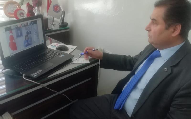 Telekonferans yoluyla Gaziantep Büyükşehir  Belediye Başkanlığı ile  toplantı yaptık.