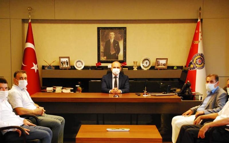 İl Emniyet Müdürü Sayın Mustafa Emre BAŞBUĞ'u ziyaret ettik.