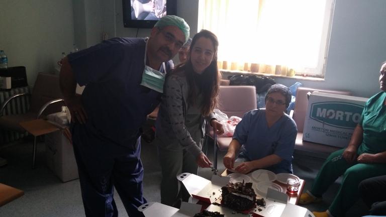 """Gaziantep Şubesi olarak; """"Anestezi Teknisyenleri günü"""" nedeniyle, Şube Başkanı Kemal KAZAK, Başkan Yardımcıları İnce Cumali DEMİR, Ramazan ABBASOĞLU ve Mehmet AKMAZ'dan oluşan heyetle Dr. Ersin Arslan Devlet Hastanesini ziyaret ettik."""