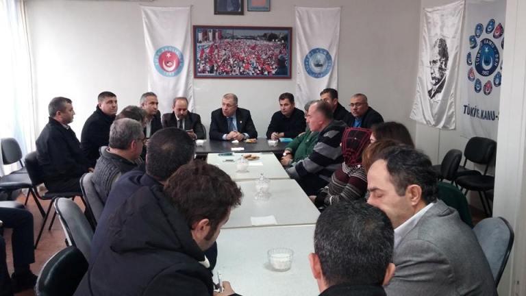 Prof Dr. Ümit Özdağ Sendikamızı Ziyaret Etti.