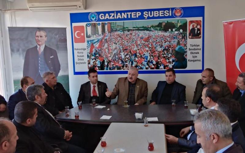 MHP Gaziantep Milletvekilimiz Sayın Sermet ATAY ile Şahinbey İlçe Başkanımız Sayın Cahit ÇIKMAZ SENDİKAMIZA ZİYARETTE BULUNDU