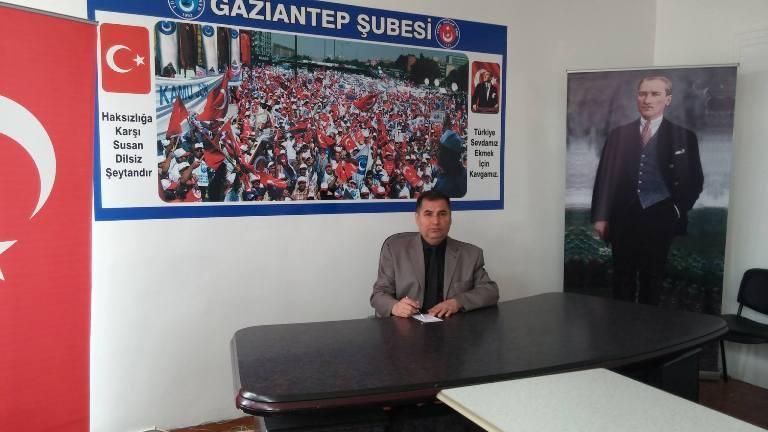 Gaziantep Şube Başkanı Kemal KAZAK; Dr. Ersin Arslan'ın ölüm yıldönümü nedeniyle, bir basın açıklaması düzenledi. KAZAK şu ifadelere yer verdi: