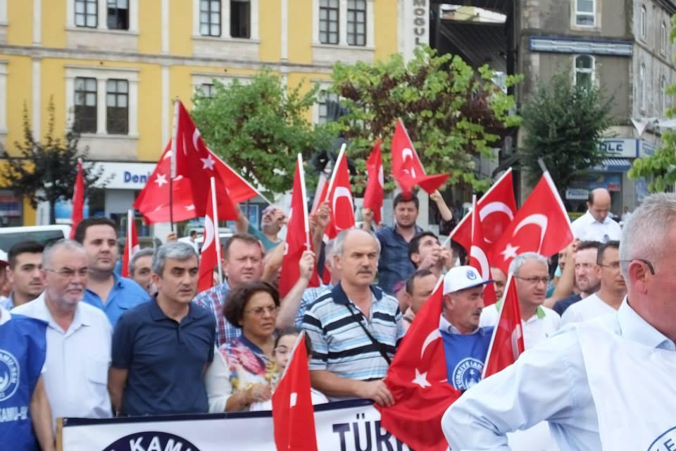 Türkiye Kamu Sen Giresun İl Temsilciliği ve bağlı şubeler tarafından Teröre lanet mitingi düzenlendi
