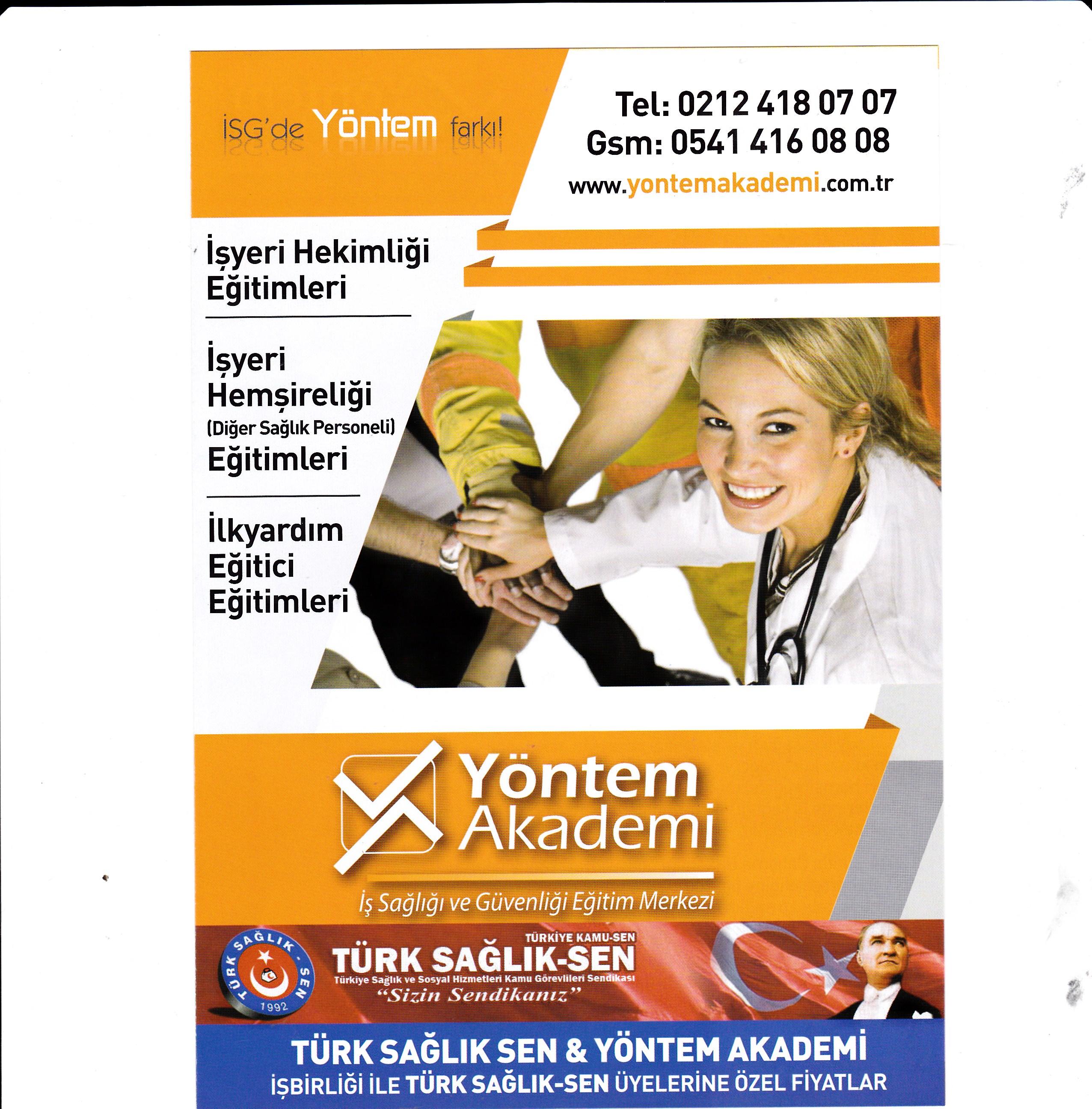 Türk Sağlık-Sen ile Yöntem Akademi Arasında Protokol İmzalanmıştır.