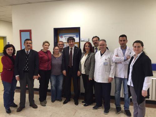 Genel Başkan Yardımcımız Sayın İsmail TÜRK 22.04.2015 tarihinde Dokuz Eylül Üniversitesi Hastanesi ile yaptığımız Kurum İdari Kurul toplantımıza katıldı.