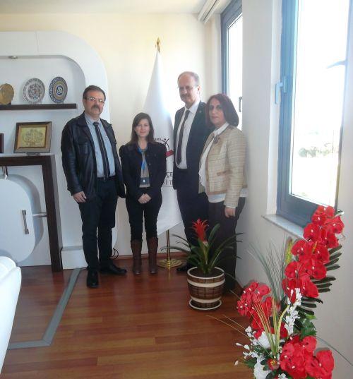 İzmir Katip Çelebi Üniversitesi Rektörünü Ziyaret Ettik