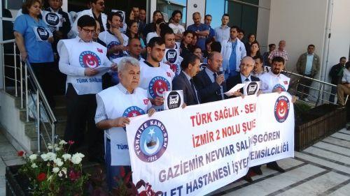 Gaziemir Navvar Salih İşgören Devlet Hastanesinde Şiddete Tepki