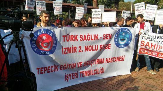 İzmir 2 Nolu Şube Başkanımız Şenol Atıcı Döner Sermaye uygulamasıyla ilgili bir basın açıklaması düzenledi.
