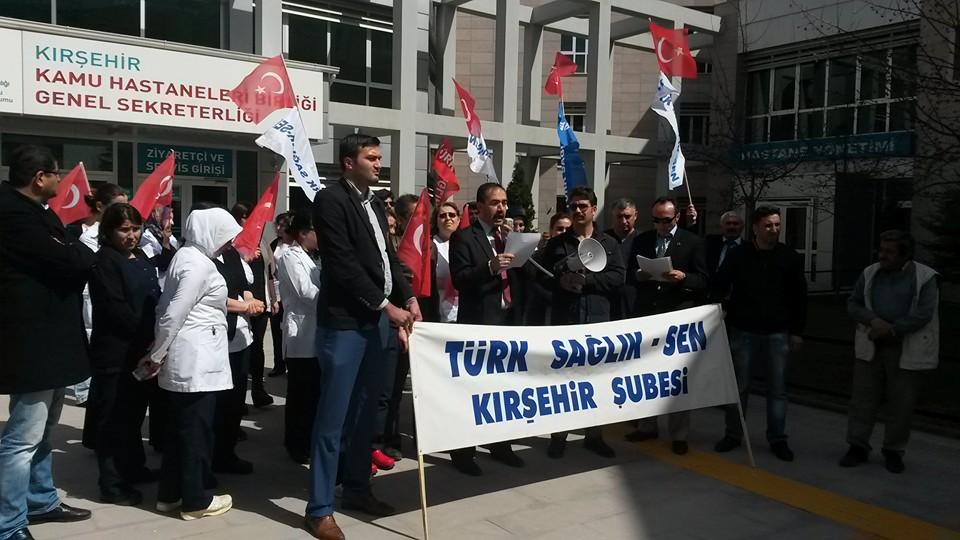 17 Mart 2016'da Ahi Evran Üniversitesi E.A. Hastanesinde yaşanan şiddet olayını kınamak için bir basın açıklaması yaptık