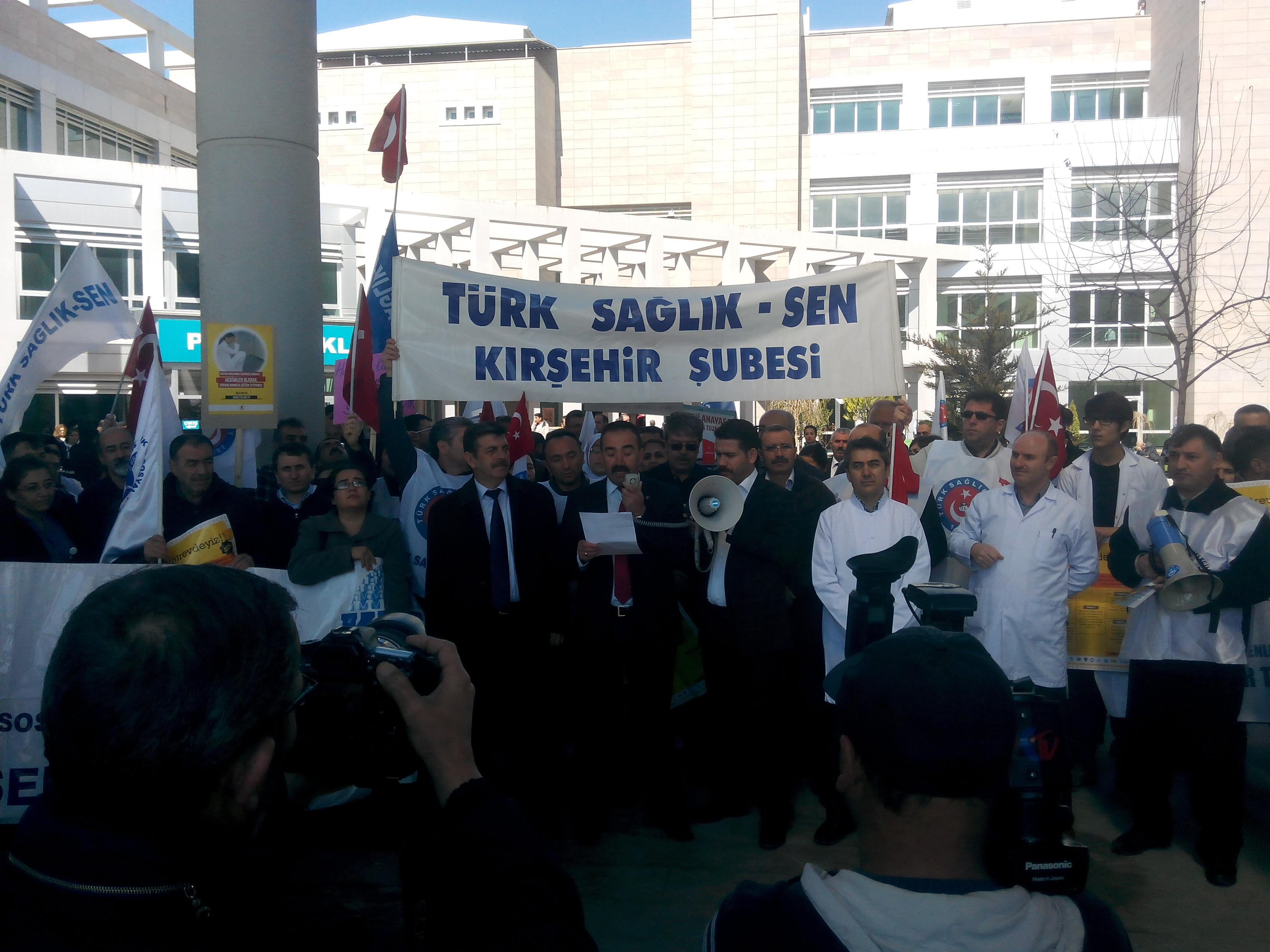 Kırşehir'de Sağlık Çalışanları İş Bırakma Eylemi Yaptı