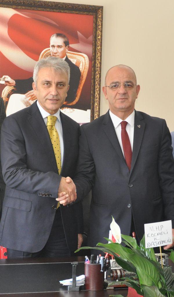 """Milliyetçi Hareket Partisi """"MHP"""" Kocaeli İl Başkanı Türk Sağlık Sen'e hayırlı olsun ziyaretinde bulundu."""