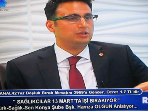 Konya 42 TV'de Şube Başkanımız Canlı Yayında  Sağlık Çalışanlarına Seslendi