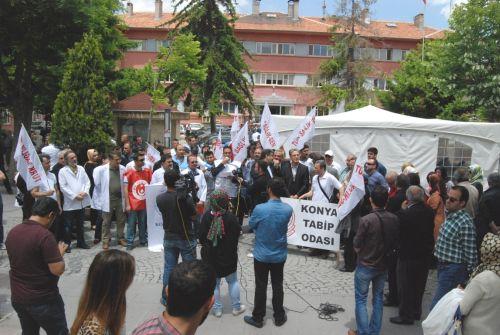 Sağlıkta Şiddeti protesto ederek basın açıklaması düzenledik