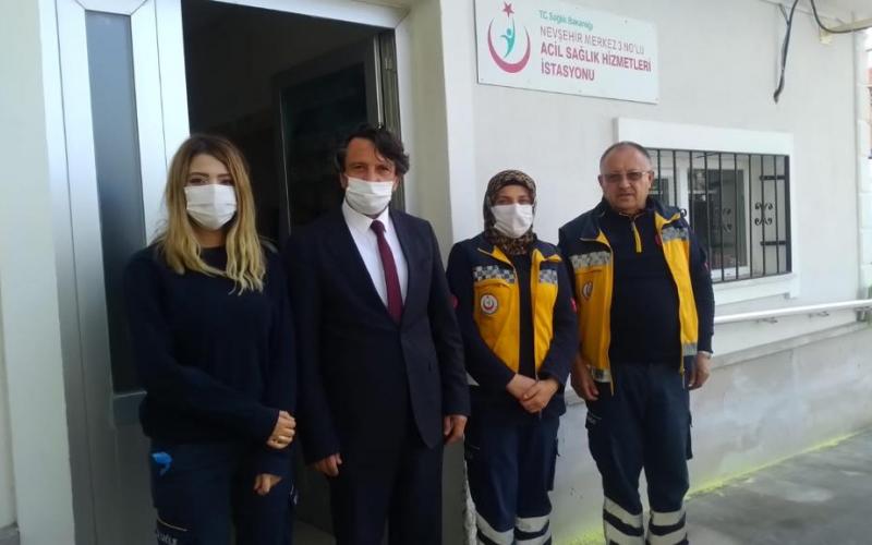 Merkez 112 Acil Sağlık İstasyonlarını ziyaret ettik.