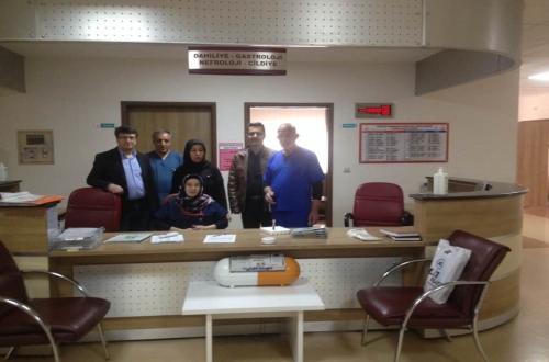 Nevşehir Devlet Hastanesini Ziyaret Ettik.