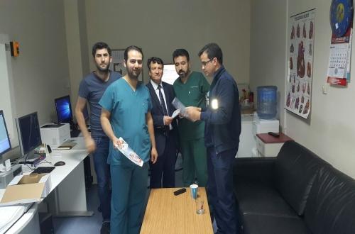 Türk Sağlık Sen Nevşehir Şubesi olarak haftalık ziyaretler kapsamında Nevşehir Devlet Hastanesini ziyaret ettik.