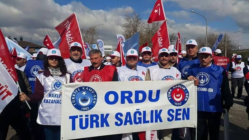 TSS Ordu Şubesi Yönetim Kurulu, Temsilcileri ve Üyeleri 4 Nisan da Ankara da mitingdeydi.