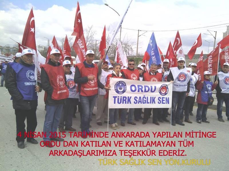 Ordu Şubesi Olarak Ankara Mitinginde Alanlardaydık