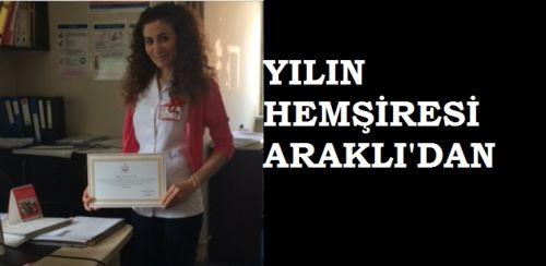 Araklı İlçe ASM Üyemiz Ebe Şenay Özen Yılın Ebesi Seçildi