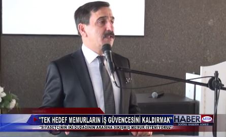Genel Başkanımız Önder Kahveci Manisa Şubemizin düzenlediği İşyeri Temsilci Toplantısında memurun iş güvencesi ile ilgili değerlendirmelerde bulundu.