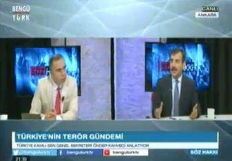 Genel Başkanımız Önder Kahveci Bengütürk TV'de yayınlanan Söz Hakkı Programında ülke gündemini değerlendirdi