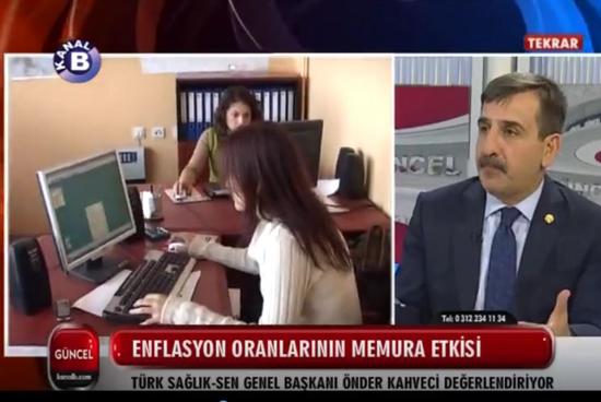 Genel Başkanımız Önder Kahveci, Kanal B'de yayınlanan Gündem programında canlı yayın konuğuydu. Genel Başkanımız, Programda Kamu Çalışanlarının sorunlarını dile getirerek toplu sözleşme süreci hakkında  değerlendirmelerde bulundu