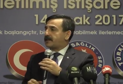 Genel Başkanımız Önder Kahveci konuşmasında Türkiye gündemi,kamu ve sağlık çalışanlarının sorunları ile ilgili değerlendirmelerde bulundu.