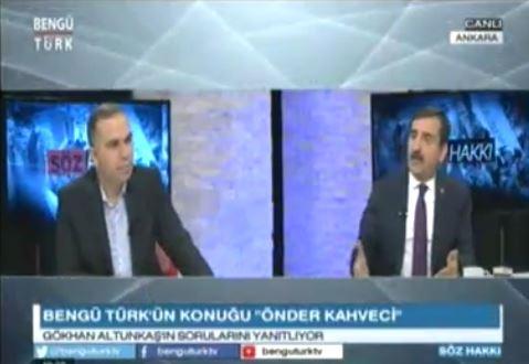 Genel Başkanımız Önder Kahveci, Bengü Türk TV'de yayınlanan Söz Hakkı Programında Sağlık Çalışanlarının Sorunları ile ilgili değerlendirmelerde bulundu