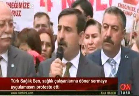 Sağlık Bakanlığı Önünde Gerçekleştirdiğimiz Döner Sermaye Eylemimiz CNN Türk Ana Haber Bülteninde Yer Aldı