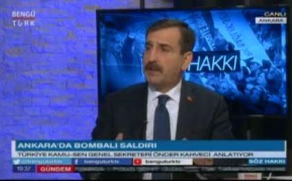 Genel Başkanımız Önder Kahveci, Türkiye'nin gündemini ve sağlık çalışanlarının sorunlarını, Bengütürk TV'de canlı olarak yayınlanan Söz Hakkı Programında değerlendi.