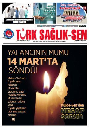 Gazete Türk Sağlık-Sen 70. Sayı