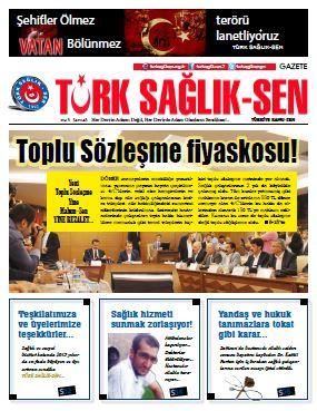 Gazete Türk Sağlık Sen 45. Sayı