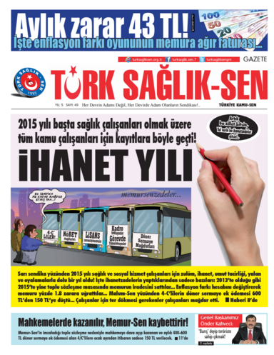 Gazete Türk Sağlık Sen - 49. Sayı