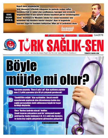 Gazete Türk Sağlık Sen - 52. Sayı